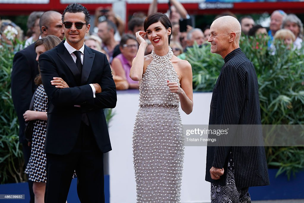 Paz Vega and Jonathan Demme attend the opening ceremony and premiere of 'Everest' during the 72nd Venice Film Festival on September 2, 2015 in Venice, Italy.