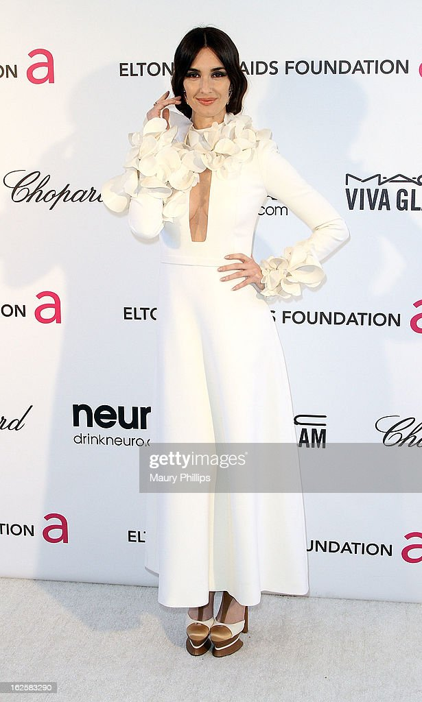 Paz Vega arrives at the 21st Annual Elton John AIDS Foundation Academy Awards Viewing Party at Pacific Design Center on February 24, 2013 in West Hollywood, California.