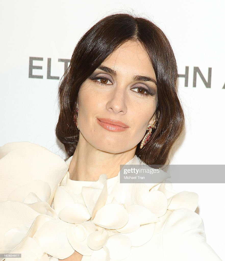 Paz Vega arrives at the 21st Annual Elton John AIDS Foundation Academy Awards viewing party held at West Hollywood Park on February 24, 2013 in West Hollywood, California.