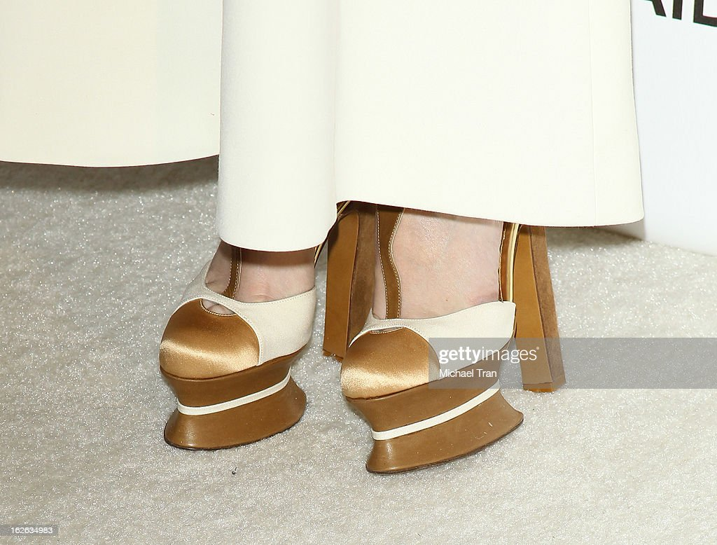 Paz Vega (shoe detail) arrives at the 21st Annual Elton John AIDS Foundation Academy Awards viewing party held at West Hollywood Park on February 24, 2013 in West Hollywood, California.
