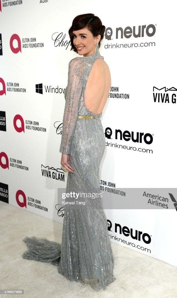 <a gi-track='captionPersonalityLinkClicked' href=/galleries/search?phrase=Paz+Vega&family=editorial&specificpeople=208840 ng-click='$event.stopPropagation()'>Paz Vega</a> arrives for the 22nd Annual Elton John AIDS Foundation's Oscar Viewing Party held at West Hollywood Park on March 2, 2014 in West Hollywood, California.