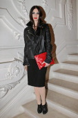 Paz Vega arrives to attend the JeanPaul Gaultier Spring/Summer 2013 HauteCouture show as part of Paris Fashion Week at on January 23 2013 in Paris...