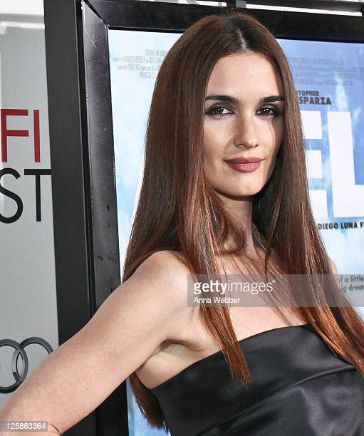 Paz Vega arrives to the AFI Fest 2010 Screening Of 'Abel' Red Carpet at Grauman's Chinese Theatre on November 7 2010 in Hollywood California