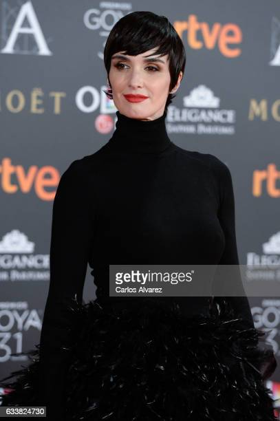 Paz Vega attends Goya Cinema Awards 2017 at Madrid Marriott Auditorium on February 4 2017 in Madrid Spain