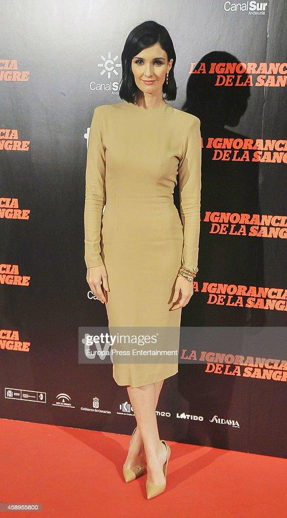 Paz Vega attends 'La Ignorancia de la Sangre' premiere on November 13 2014 in Madrid Spain