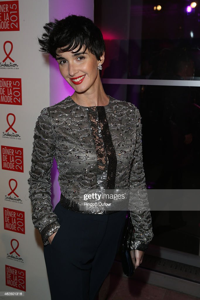 Paz Vega attends of the Sidaction Gala Dinner 2015 at Pavillon d'Armenonville on January 29 2015 in Paris France