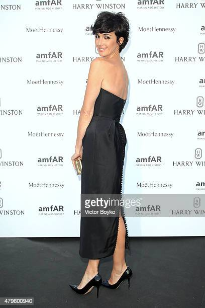 Paz Vega attends the amfAR dinner at the Pavillon LeDoyen during the Paris Fashion Week Haute Couture on July 5 2015 in Paris France