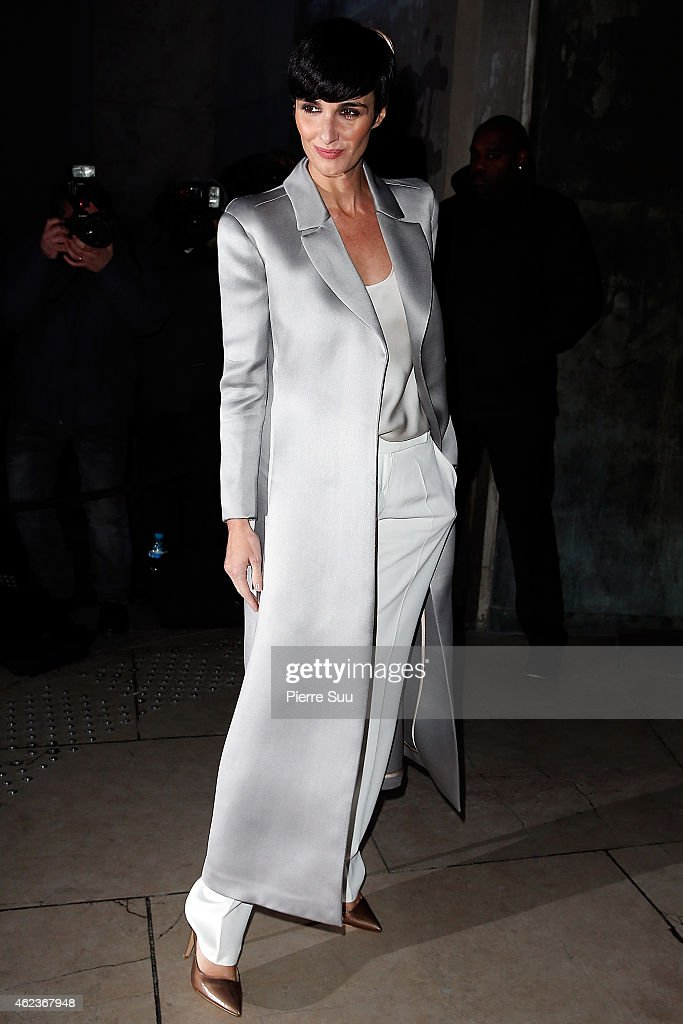 Paz Vega attends the Giorgio Armani Prive show as part of Paris fashion week Haute Couture Spring/Summer 2015 on January 27 2015 in Paris France