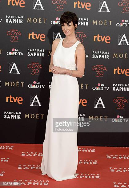 Paz Vega attends the Goya Cinema Awards 2016 Ceremony at Madrid Marriott Auditorium on February 6 2016 in Madrid Spain