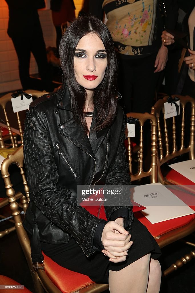 Paz Vega attends the Jean-Paul Gaultier Spring/Summer 2013 Haute-Couture show as part of Paris Fashion Week at Rue Saint Martin headquarters on January 23, 2013 in Paris, France.