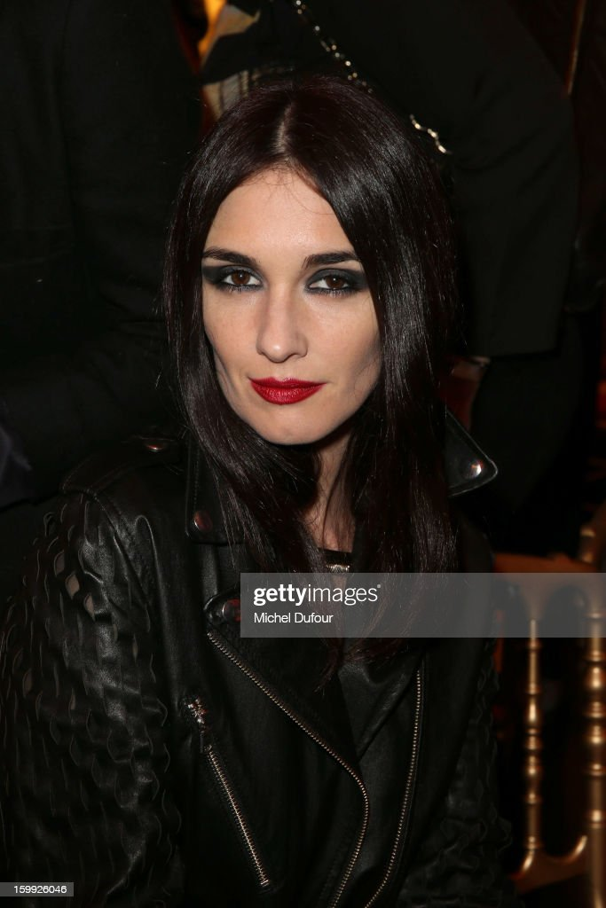 <a gi-track='captionPersonalityLinkClicked' href=/galleries/search?phrase=Paz+Vega&family=editorial&specificpeople=208840 ng-click='$event.stopPropagation()'>Paz Vega</a> attends the Jean-Paul Gaultier Spring/Summer 2013 Haute-Couture show as part of Paris Fashion Week at Rue Saint Martin headquarters on January 23, 2013 in Paris, France.