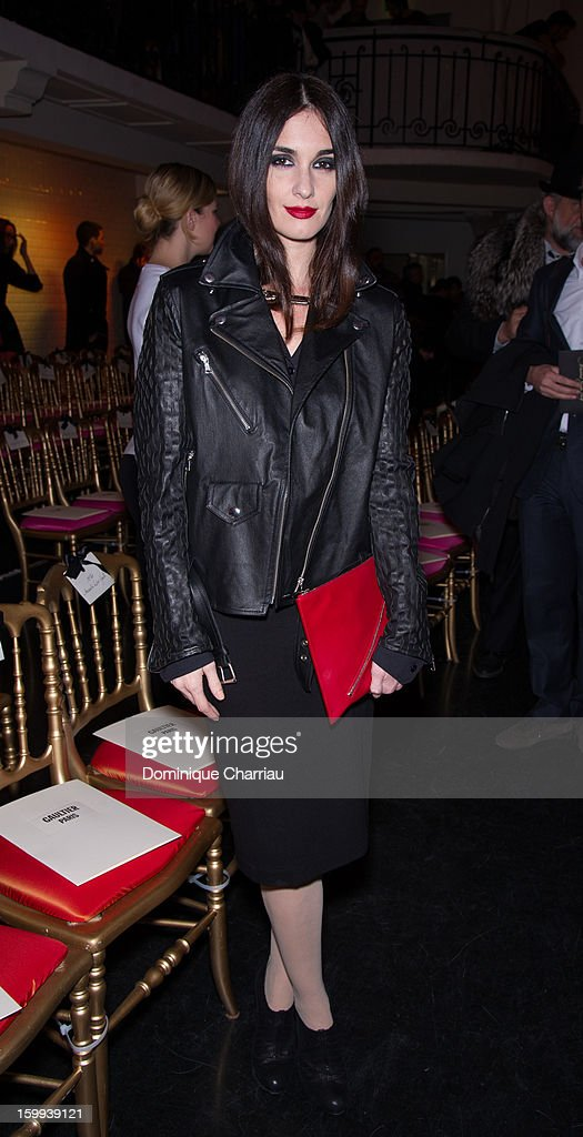 Paz Vega attends the Jean-Paul Gaultier Spring/Summer 2013 Haute-Couture show as part of Paris Fashion Week at on January 23, 2013 in Paris, France.