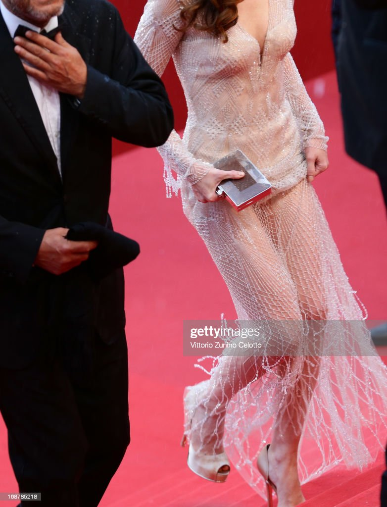 Paz Vega (bag detail) attends the Opening Ceremony and 'The Great Gatsby' Premiere during the 66th Annual Cannes Film Festival at the Theatre Lumiere on May 15, 2013 in Cannes, France.