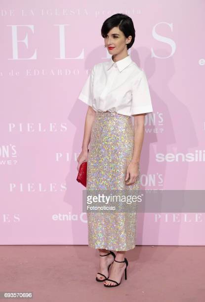 Paz Vega attends the 'Pieles' premiere pink carpet at Capitol cinema on June 7 2017 in Madrid Spain