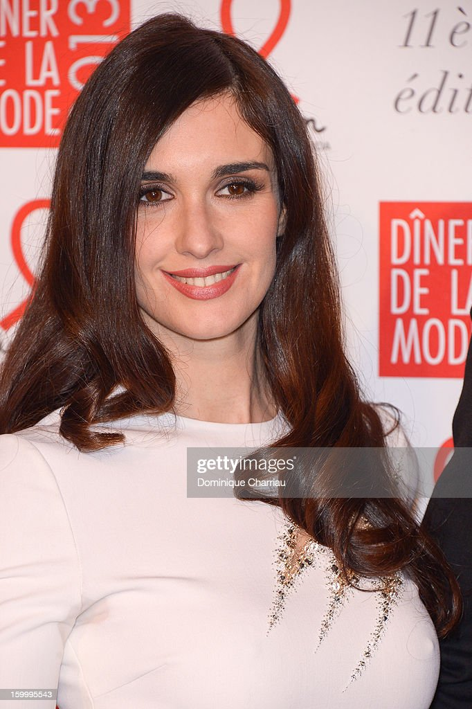 Paz Vega attends the Sidaction Gala Dinner 2013 at Pavillon d'Armenonville on January 24, 2013 in Paris, France.