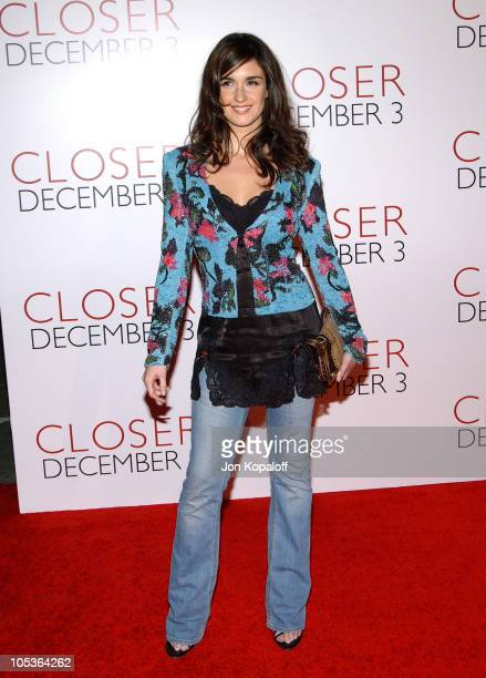 Paz Vega during 'Closer' Los Angeles Premiere Arrivals at Mann Village Theatre in Westwood California United States