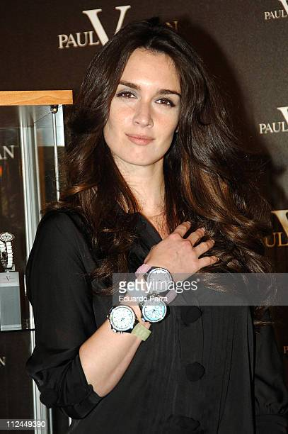 Paz Vega during Paz Vega Launches New Paul Versan Watch Collection at Urban Hotel in Madrid Spain