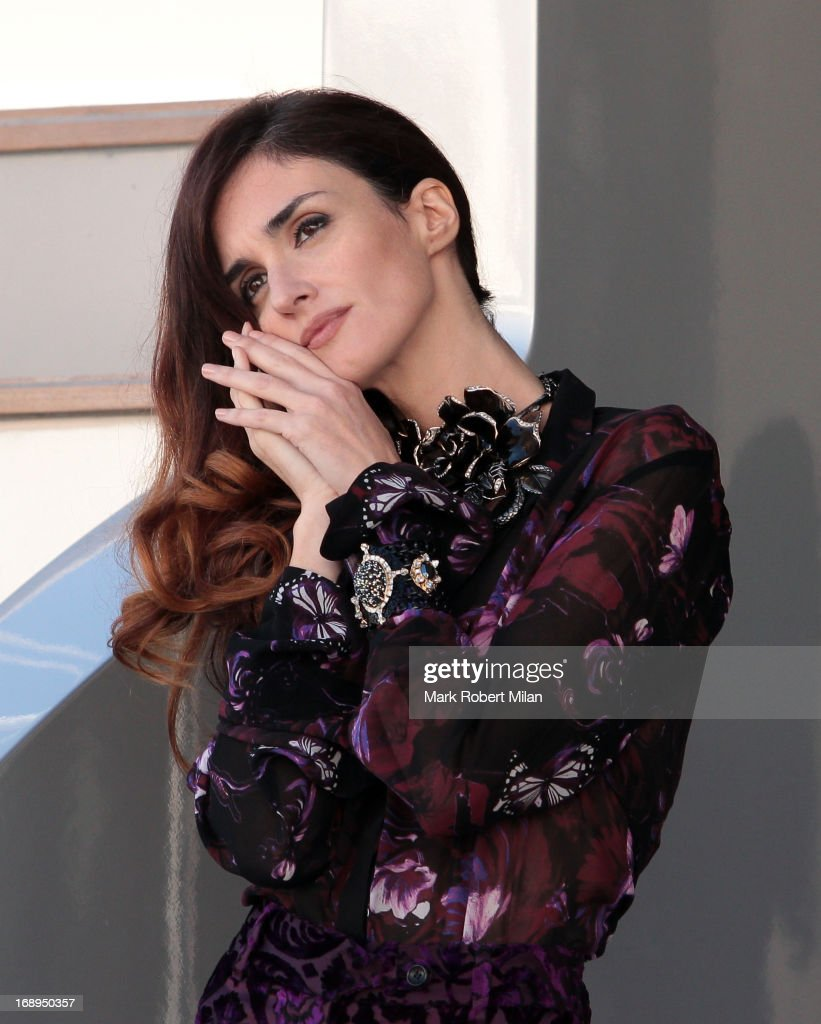 <a gi-track='captionPersonalityLinkClicked' href=/galleries/search?phrase=Paz+Vega&family=editorial&specificpeople=208840 ng-click='$event.stopPropagation()'>Paz Vega</a> on Roberto Cavalli's Yacht at the 66th Annual Cannes Film Festival on May 17, 2013 in Cannes, France.