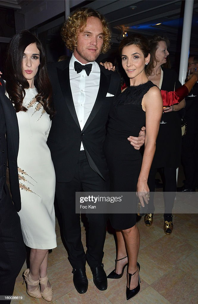 Paz Vega, Peter Dundas and Clotilde Courau attend the Sidaction Gala Dinner 2013 at Pavillon d'Armenonville on January 24, 2013 in Paris, France.