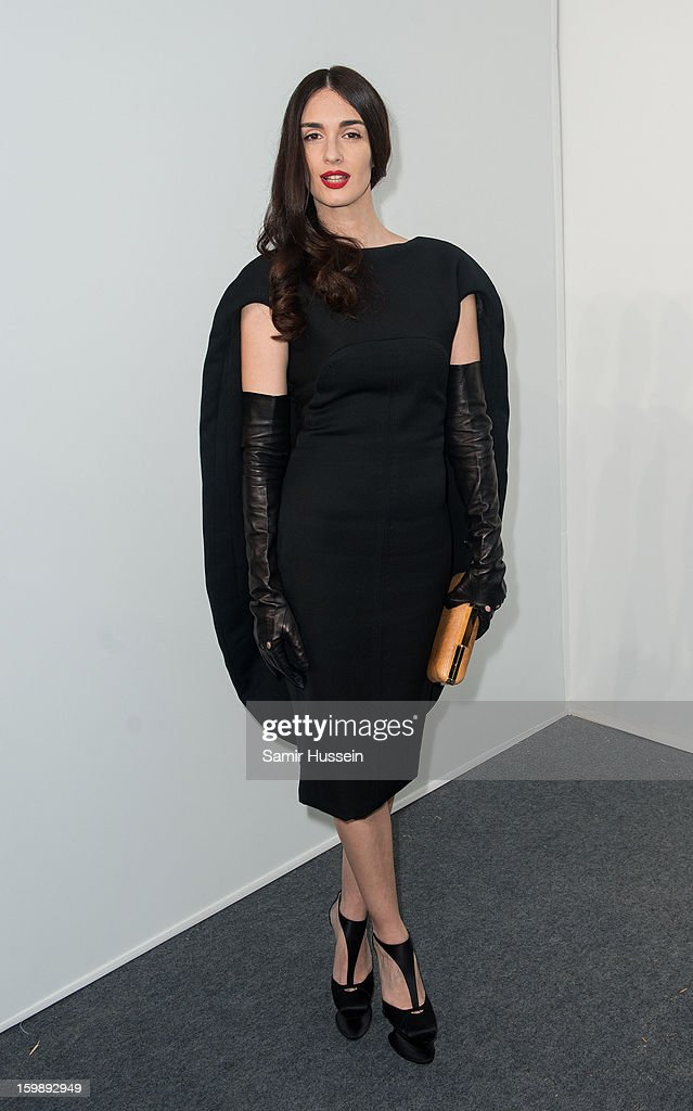 Paz Vega poses backstage at the Stephane Rolland Spring/Summer 2013 Haute-Couture show as part of Paris Fashion Week at Palais De Tokyo on January 22, 2013 in Paris France.