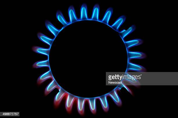Pcture shows a burning gas ring on a cooker