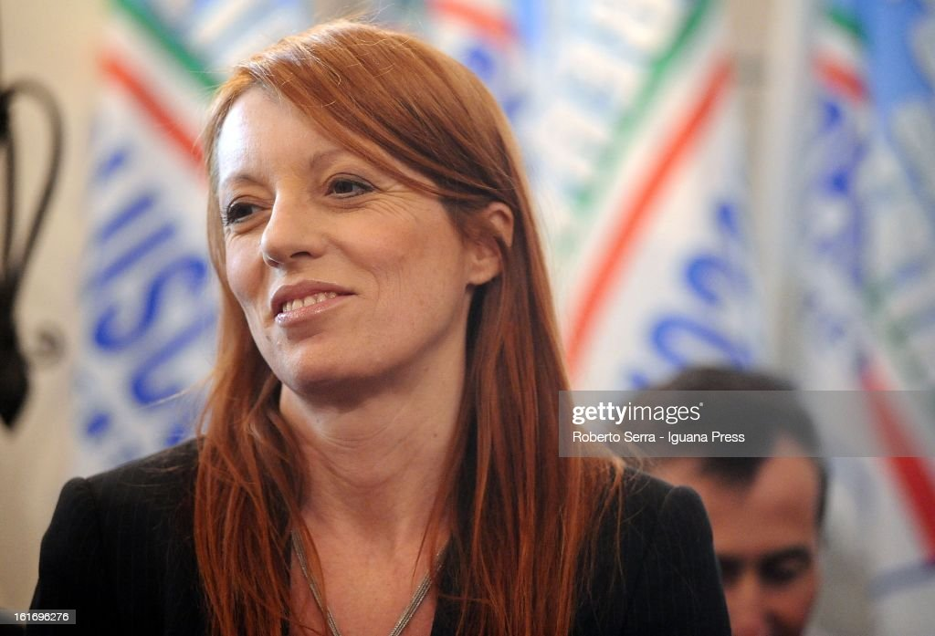 Pdl Parliamentary candidate and ex Italian Minister of Tourism, Michela Vittoria Brambilla attends a meeting held by National Secretary of PdL (The People of Freedom) Angelino Alfano at party headquarters on February 14, 2013 in Bologna, Italy.