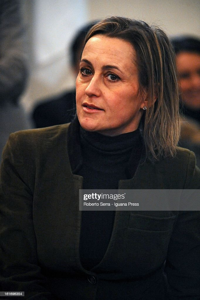 Pdl parliamentary candidate Deborah Bergamini attends a meeting held by National Secretary of PdL (The People of Freedom) Angelino Alfano at party headquarters on February 14, 2013 in Bologna, Italy.