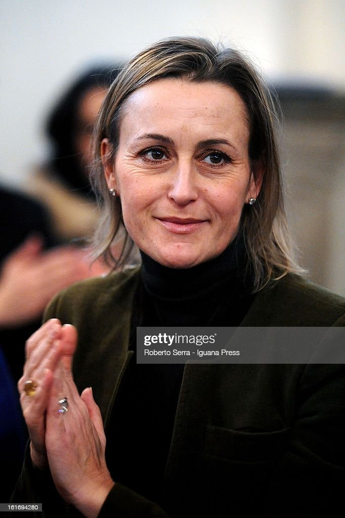 Pdl parliamentary candidate Deborah Bergamini attends a meeting with his supporters at PdL's headquarters on February 14, 2013 in Bologna, Italy.
