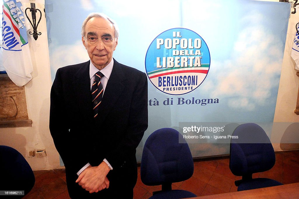 Pdl parliamentary candidate Franco Carraro attends a meeting held by National Secretary of PdL (The People of Freedom) Angelino Alfano at party headquarters on February 14, 2013 in Bologna, Italy.