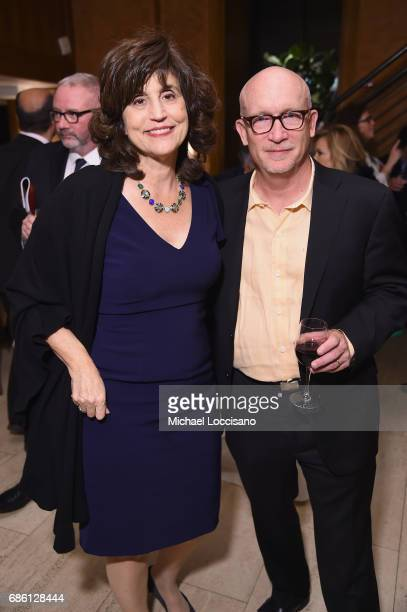 Peabody Juror and Hollywood Reporter EditoratLarge Kim Masters and director Alex Gibney attend The 76th Annual Peabody Awards Ceremony at Cipriani...