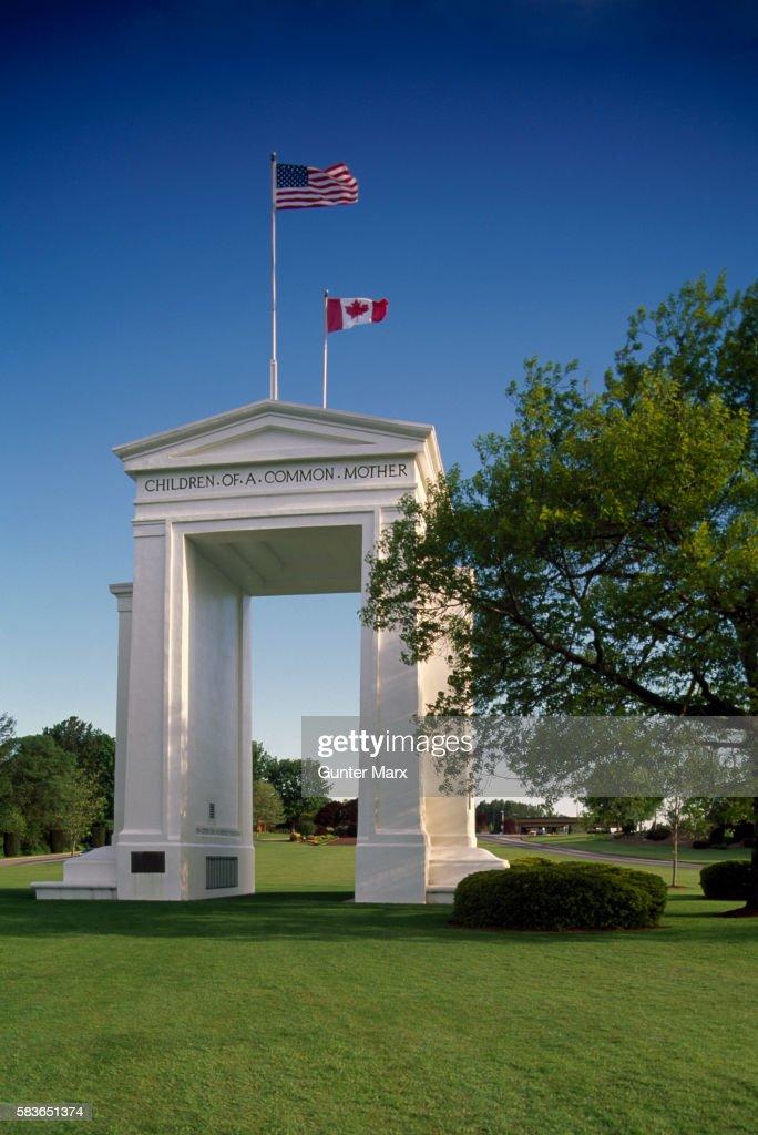 Peace Arch, American - Canadian Border, Washington - British Columbia