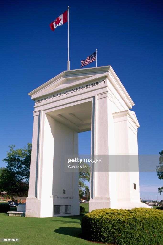 Peace Arch, Canadian - American Border, British Columbia - Washington
