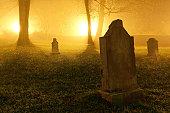 Peace at Last | Foggy Cemetery & Lights | Eisenach