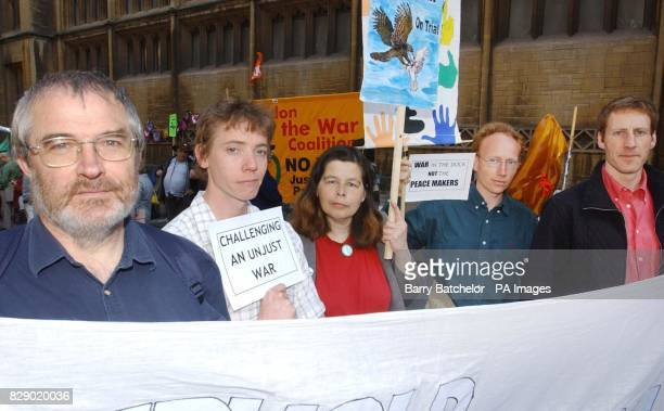 Peace campaigners Paul Milling from Birmingham Josh Richards from Bristol Margaret Jones from Bristol and the B52 Two Phil Pritchard and Toby Olditch...