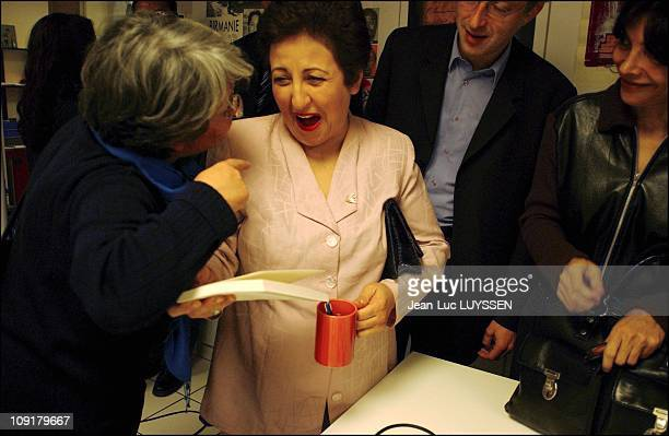 Peace Nobel Prize Shirin Ebadi At The International Federation Of The Human Right League On December 16 2003 In Paris France