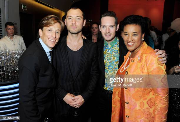 Peace One Day founder Jeremy Gilley Jude Law Dan Gillespie Sells and Baroness Patricia Scotland celebrate 'Peace One Day' at the Peace One Day...