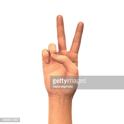 Peace or Victory sign : Stock Photo
