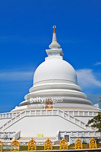 Peace Pagoda in Galle, Sri Lanka