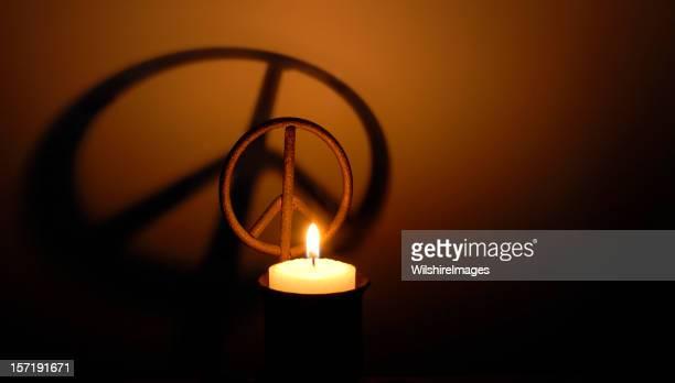Peace Symbol Candle