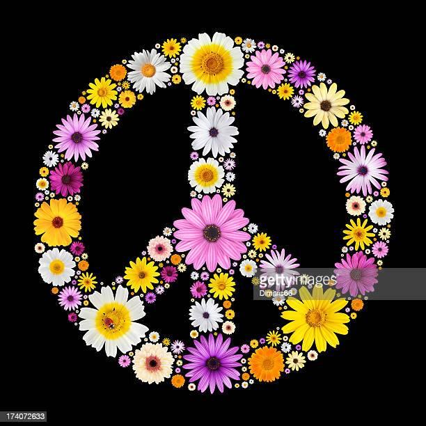 平和で作られた花の記号