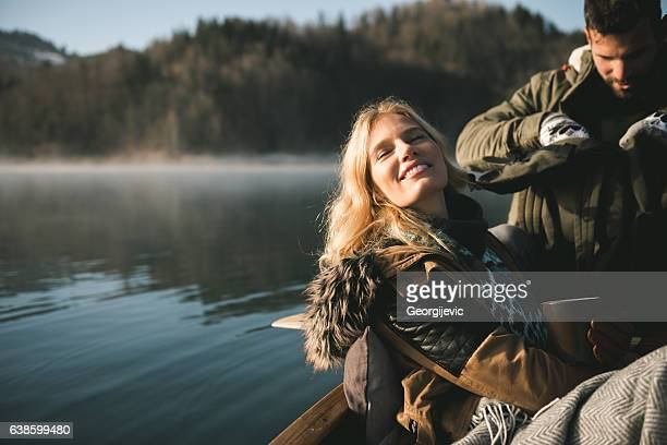 Peaceful canoe ride