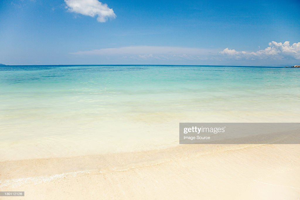 Peaceful scene at Mira Beach, Perhentian Kecil, Malaysia : Stock Photo