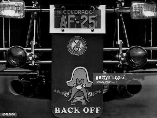Peacemakers Motorcycle Club Back OffThe cartoon character Yosemite Sam adorns the mudflap of Peacemaker president Chester Gordon's Honda motorcycle...