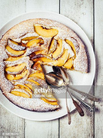 Peach cake : Stock Photo