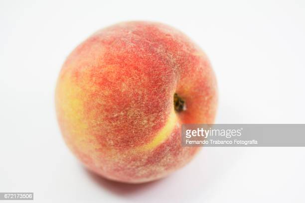 Peach close-up with lint
