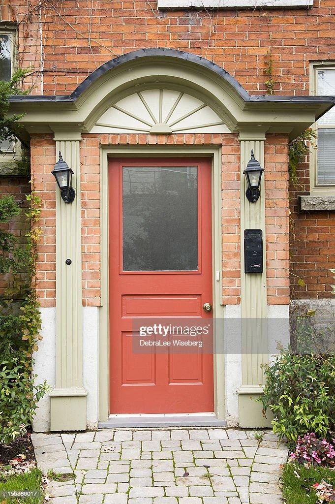 Great Peach Door Series : Stock Photo