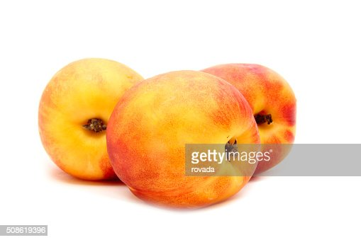 Peach isolated on white : Stock Photo