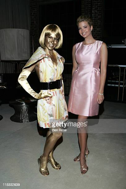Peach model and Ivanka Trump during Peach Magazine One Year Anniversary Party April 13 2007 in Atlanta Georgia United States