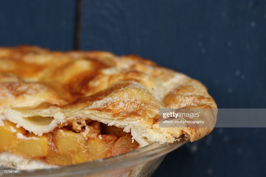 Peach pie : Stock Photo