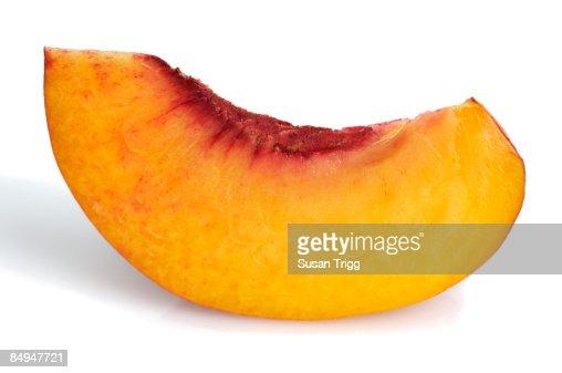Peach slice : Stock Photo